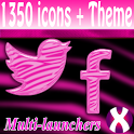 Pink Zebra Starry icon pack icon