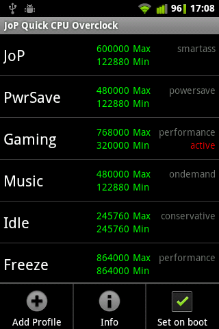 Quick CPU Overclock Lite- screenshot
