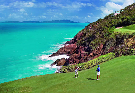 Golfers can enjoy breathtaking views at Mahogany Run on St. Thomas in the U.S. Virgin Islands.