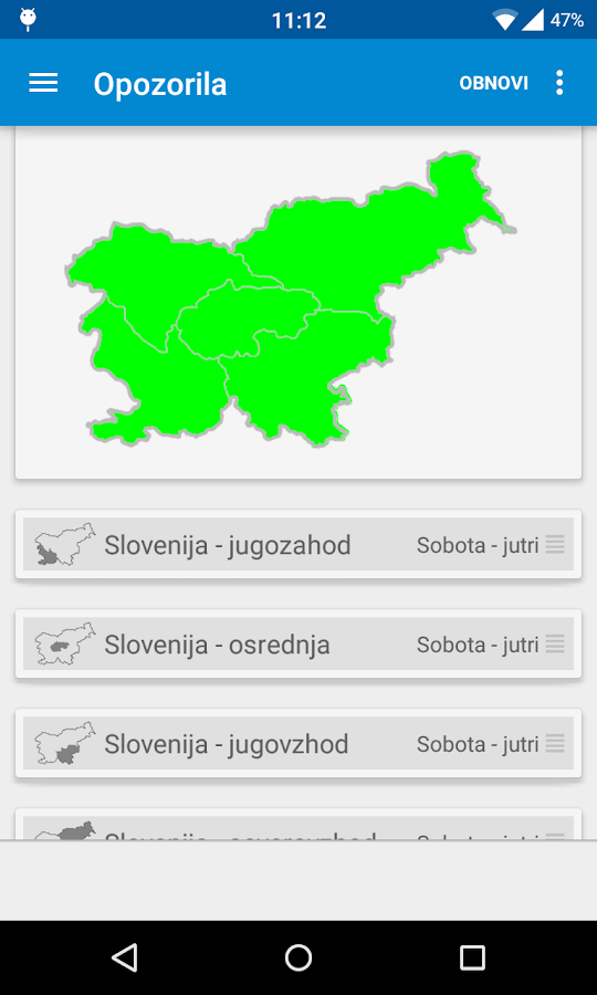 Dež - Slovenian rain radar- screenshot