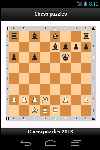 Chess puzzles, Chess tactics - screenshot