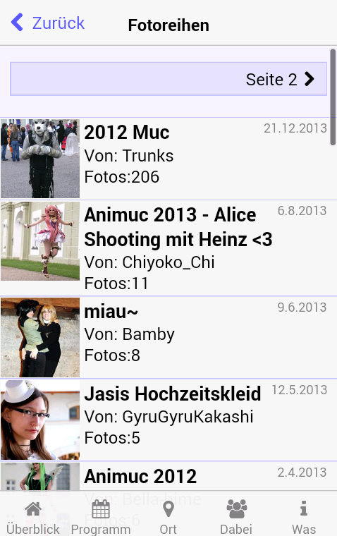 Animexx.de: Events- screenshot