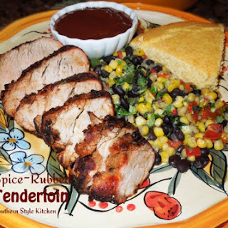 Grilled Spice Rubbed Pork Tenderloin.