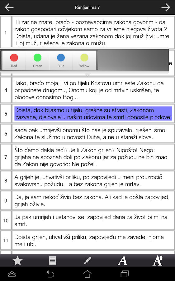 Croatian Bible - screenshot