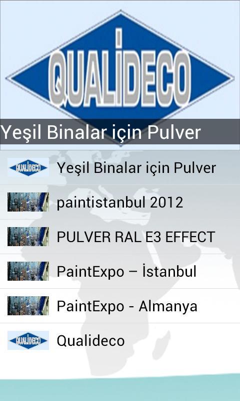 Pulver- ekran görüntüsü