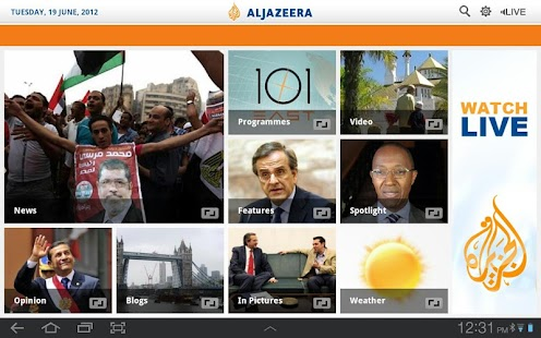 Al Jazeera English for Tablets - screenshot thumbnail