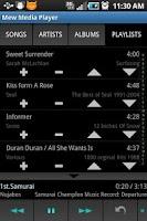 Screenshot of Mew Media Player