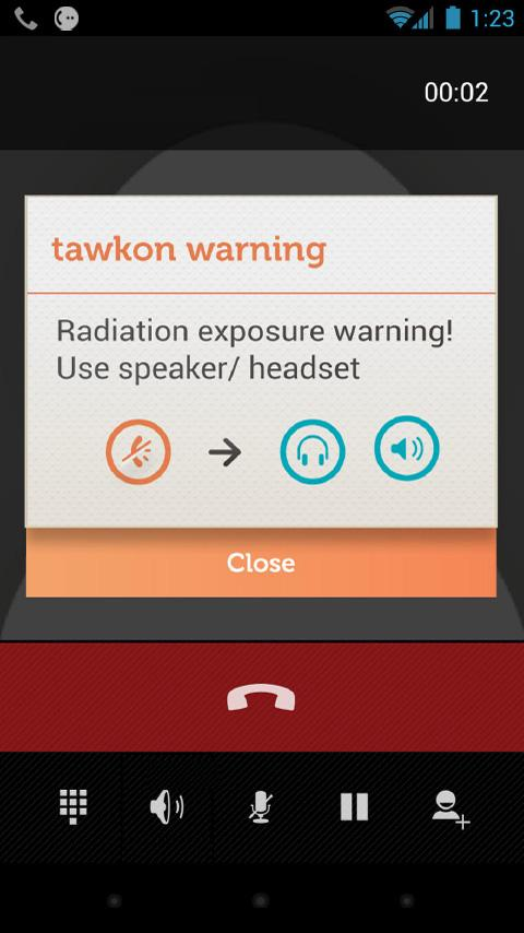 tawkon | track phone radiation- screenshot