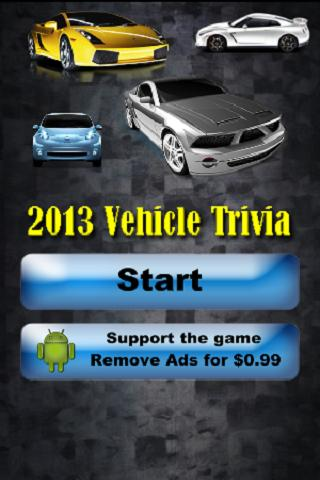 2013 Vehicle Trivia Challenge - screenshot