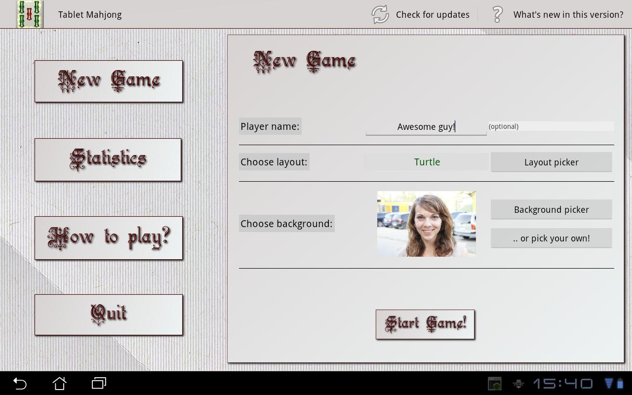 Tablet Mahjong - screenshot