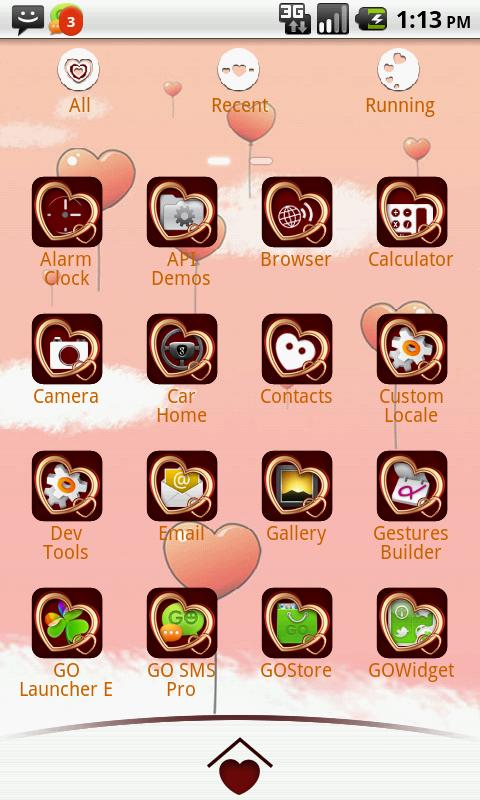 My Valentine GO Launcher Theme - screenshot