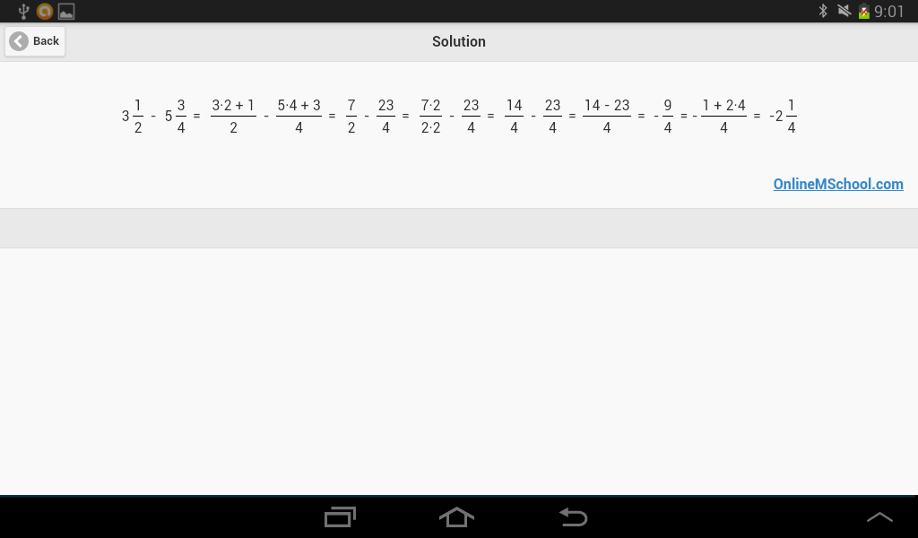 OMS Fractions Calculator- screenshot