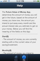 Screenshot of Future Value of Your Money