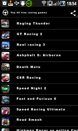Top 50 Free Racing Games