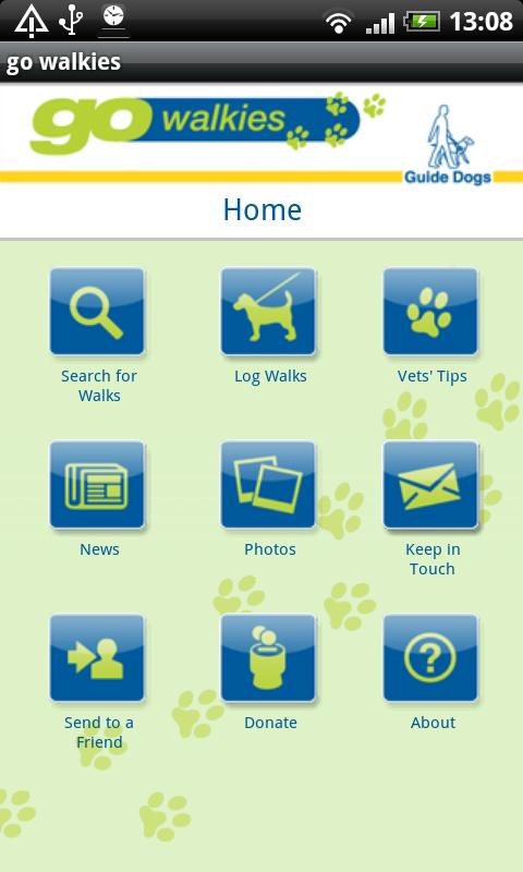 go walkies for Guide Dogs - screenshot