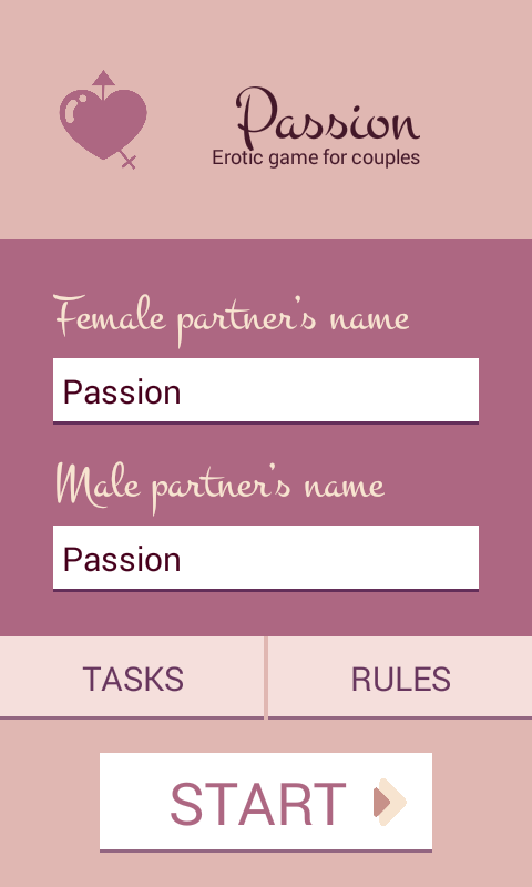 Passion - erotic couple game- screenshot