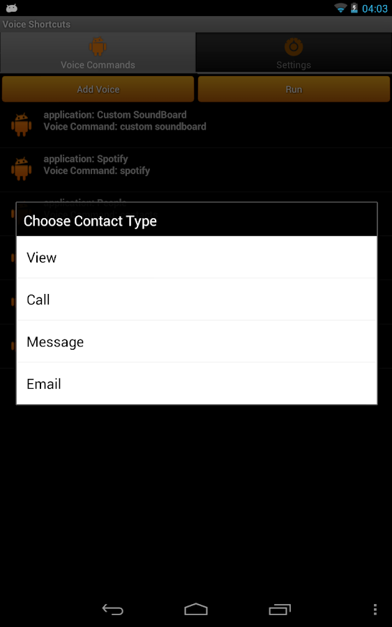 Voice Shortcuts Launcher- screenshot
