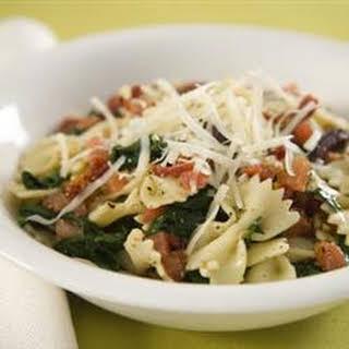 Spinach Basil Pasta Salad.