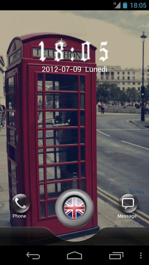 London GO Locker Theme - screenshot