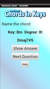 Music Theory - Chords in Keys - screenshot thumbnail
