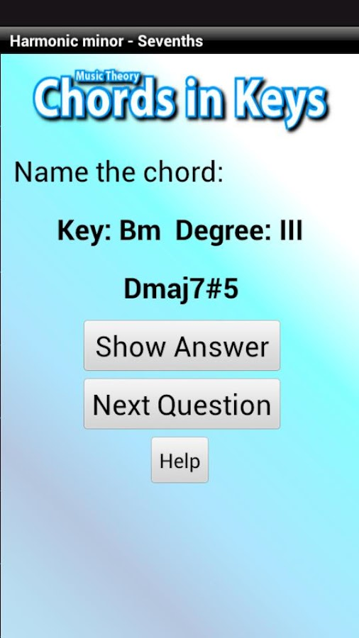 Music Theory - Chords in Keys - screenshot