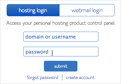 Login credential fields