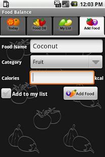 Food Balance - screenshot thumbnail