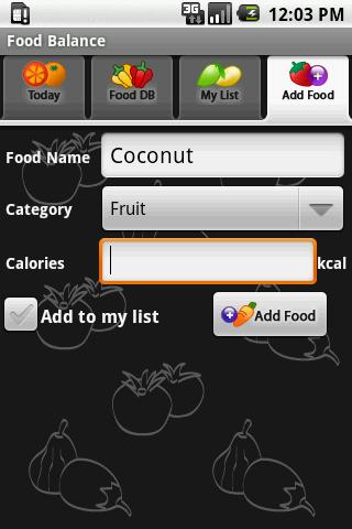 Food Balance - screenshot