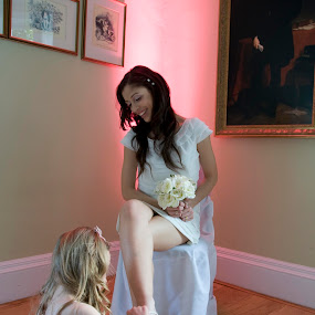 Let me help you with that by Neil Jayaratne - Wedding Getting Ready ( getting, white, daughter, kids, mum, ready, mom, child, girl, woman, wedding, special, pink, day, flowers, bride )