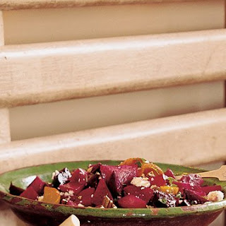 Chopped Beet Salad with Feta and Pecans.