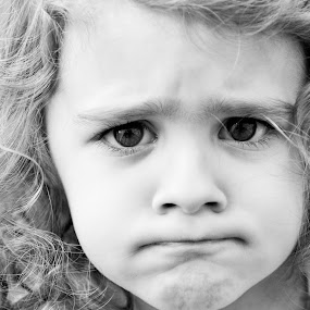 Hmmph! by Suzanne Tutak - Babies & Children Children Candids ( expression, face, girl, mad, black and white, funny, kid,  )