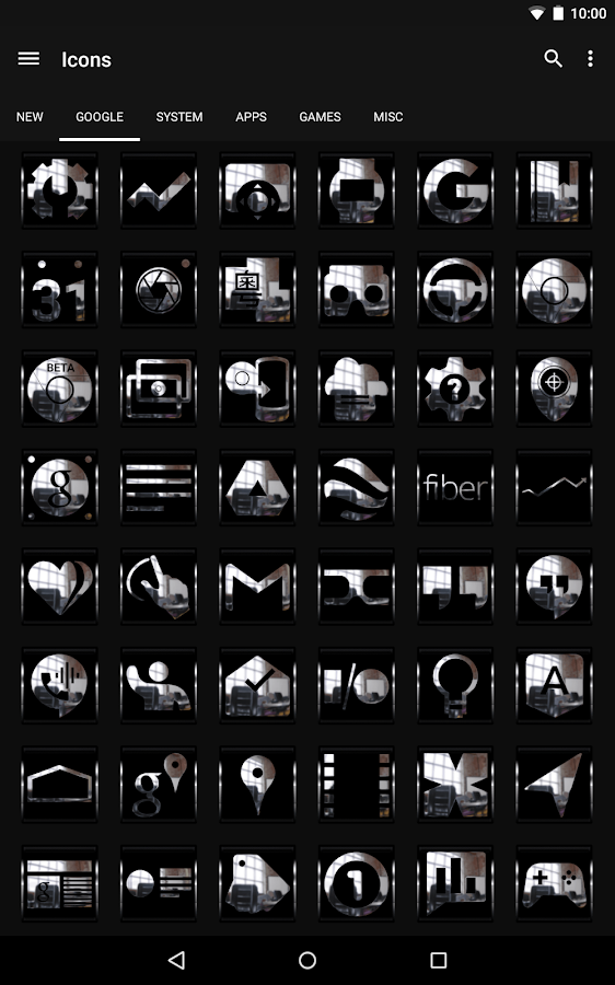 Krome - Icon Pack - screenshot