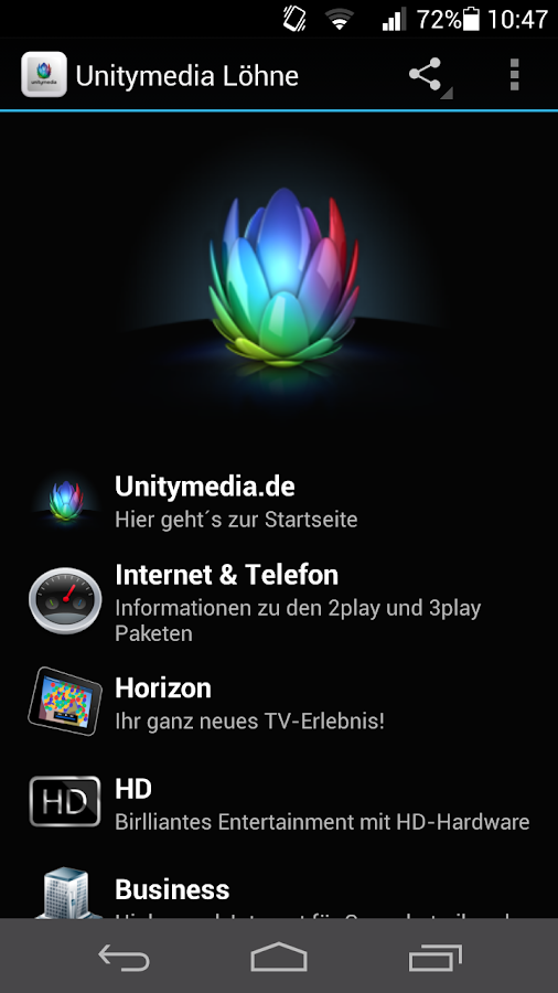 Unitymedia Löhne - screenshot