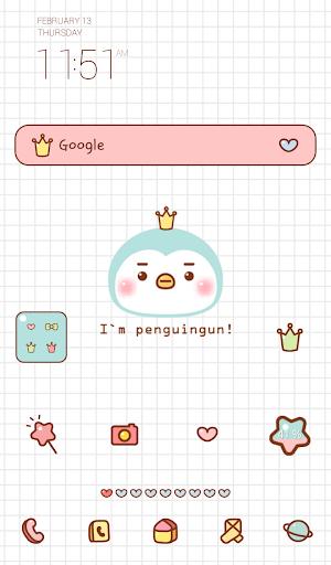 mint penguin gun dodol theme