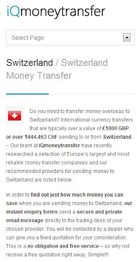 Swiss Franc Transfer CHF