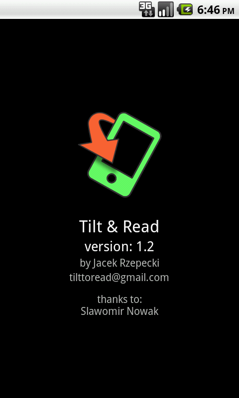 Tilt & Read - Free - screenshot