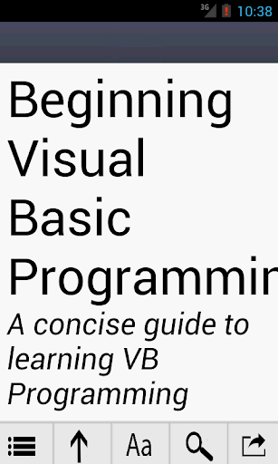 Learn Visual Basic in a day