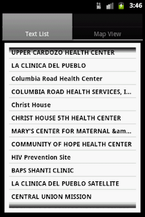 Find a Health Center- screenshot thumbnail