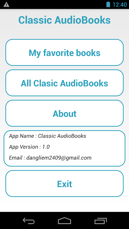 Classic AudioBooks- screenshot
