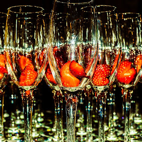 The strawberries, like the groom, patiently awaiting their partner x by Lyndsay Hepburn - Uncategorized All Uncategorized ( Food & Beverage, meal, Eat & Drink,  )