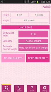 Weight and BMI Diary - screenshot thumbnail