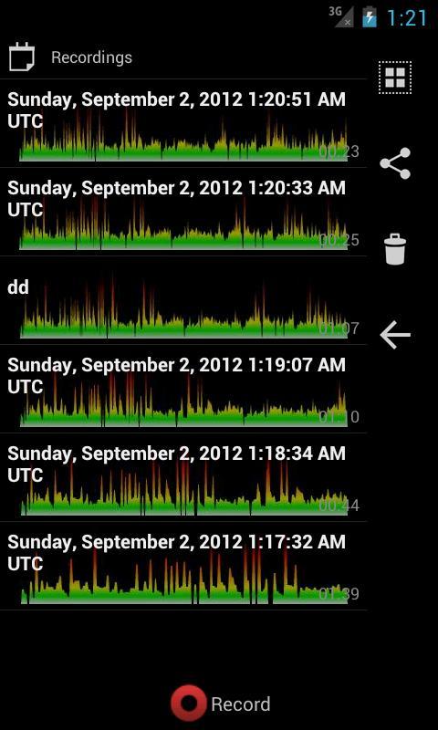 ProRecord Audio Voice Memo- screenshot