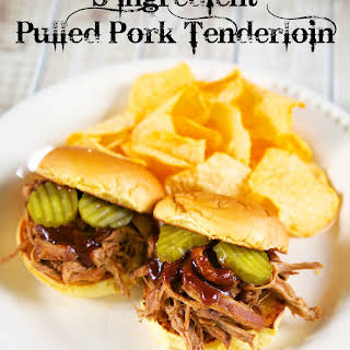 3-Ingredient Pulled Pork Tenderloin.