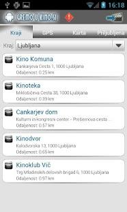 Kino sporedi - Slovenija - screenshot thumbnail