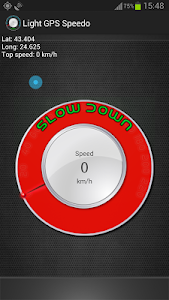 Light GPS Speedometer: kph/mph screenshot 4