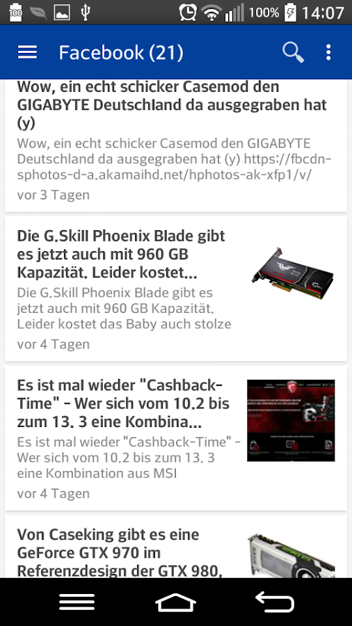 TweakPC Android App- screenshot
