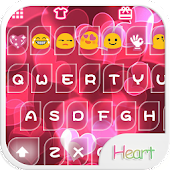 Pink Heart Emoji Keyboard