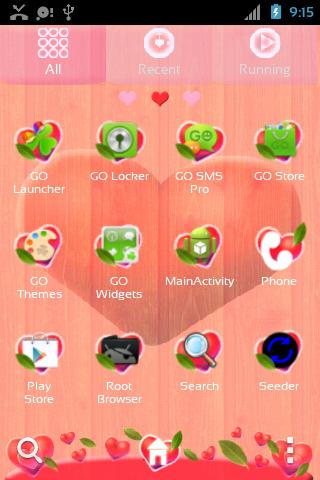 GO Launcher EX Valentine Heart - screenshot