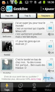 Tchat pour Geek : GeekLive - screenshot thumbnail