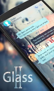 GO SMS PRO GLASS II THEME- screenshot thumbnail
